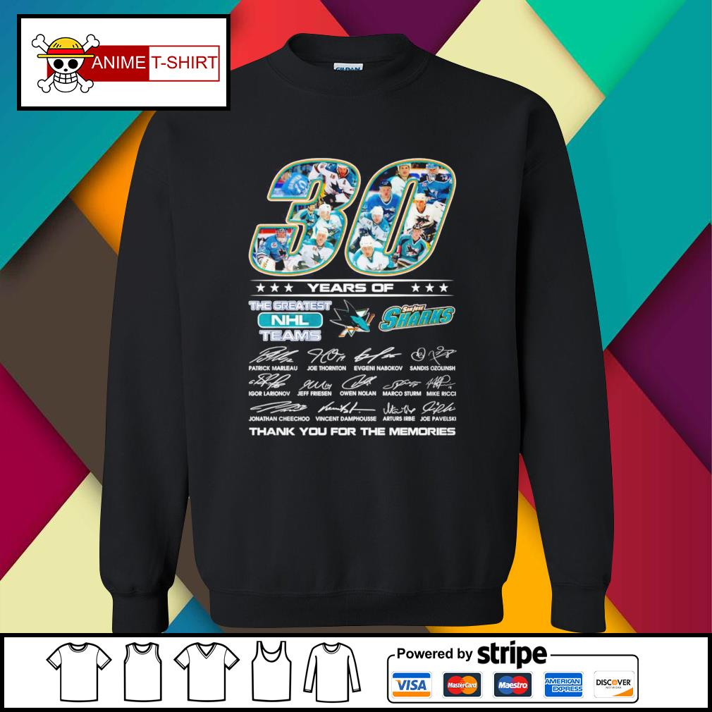 30 Years of The greatest NHL teams San Jose Sharks signature sweater