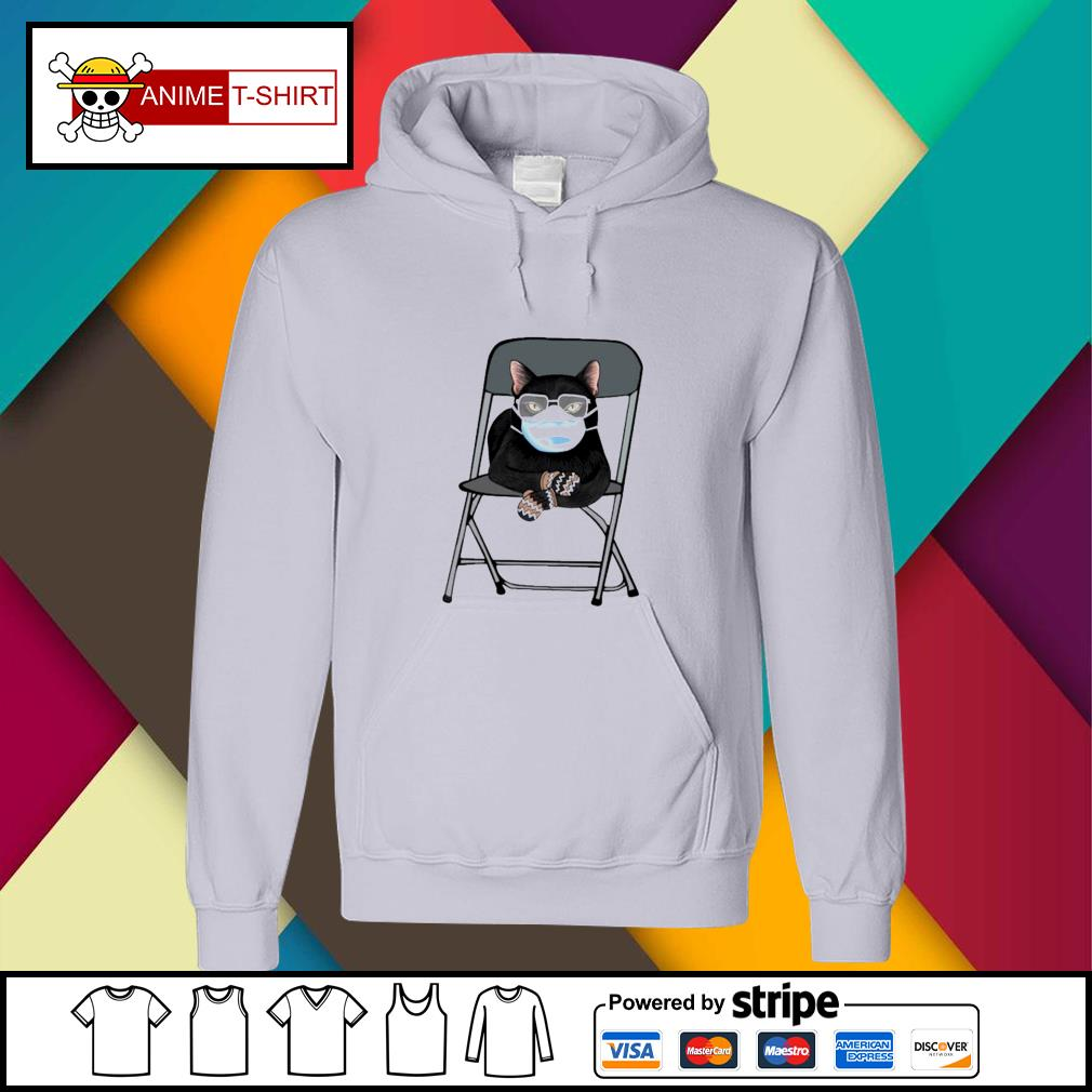 Black cat face mask and mittens s hoodie