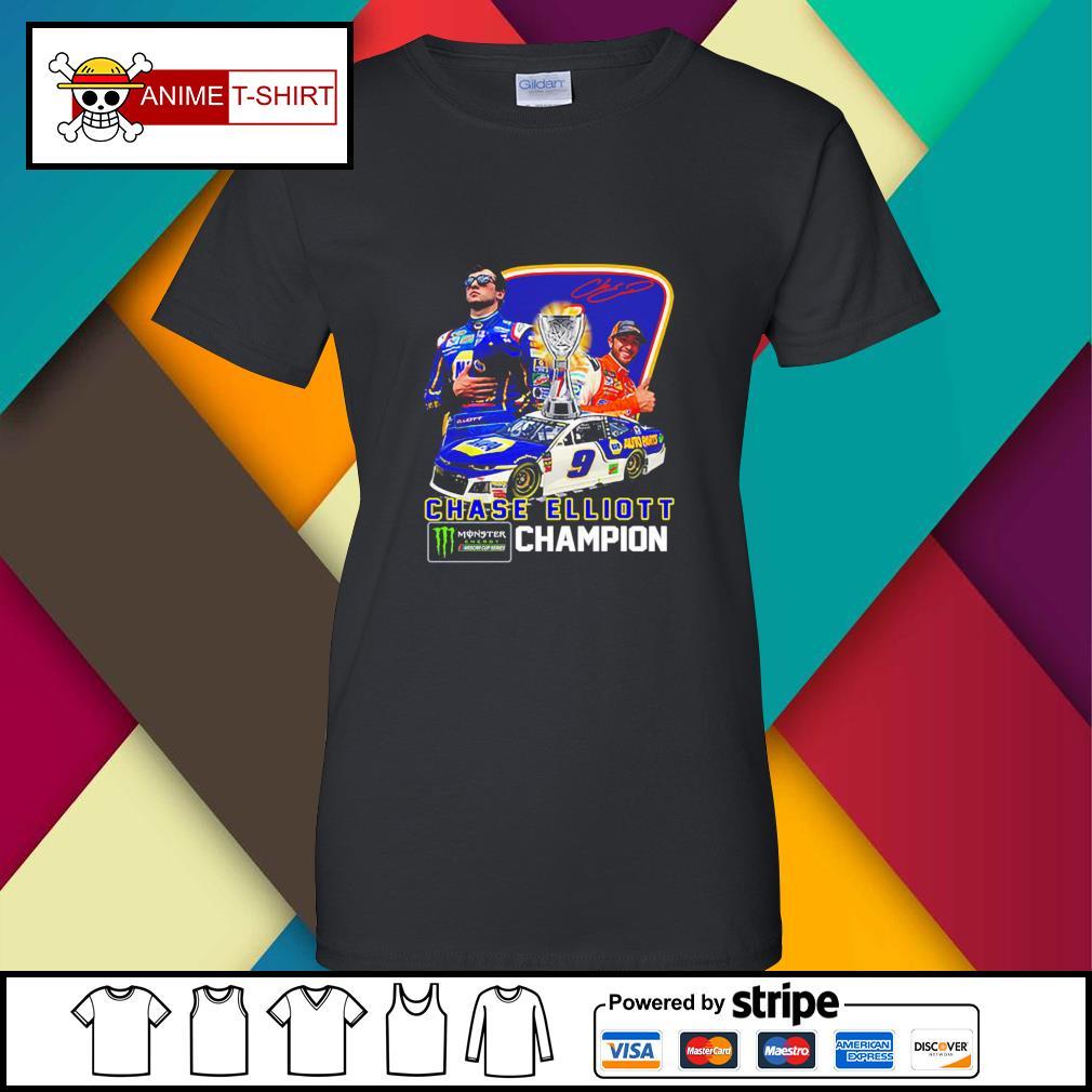 Chase Elliott championship victory signature ladies-tee