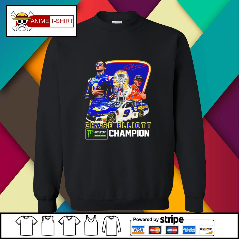 Chase Elliott championship victory signature sweater
