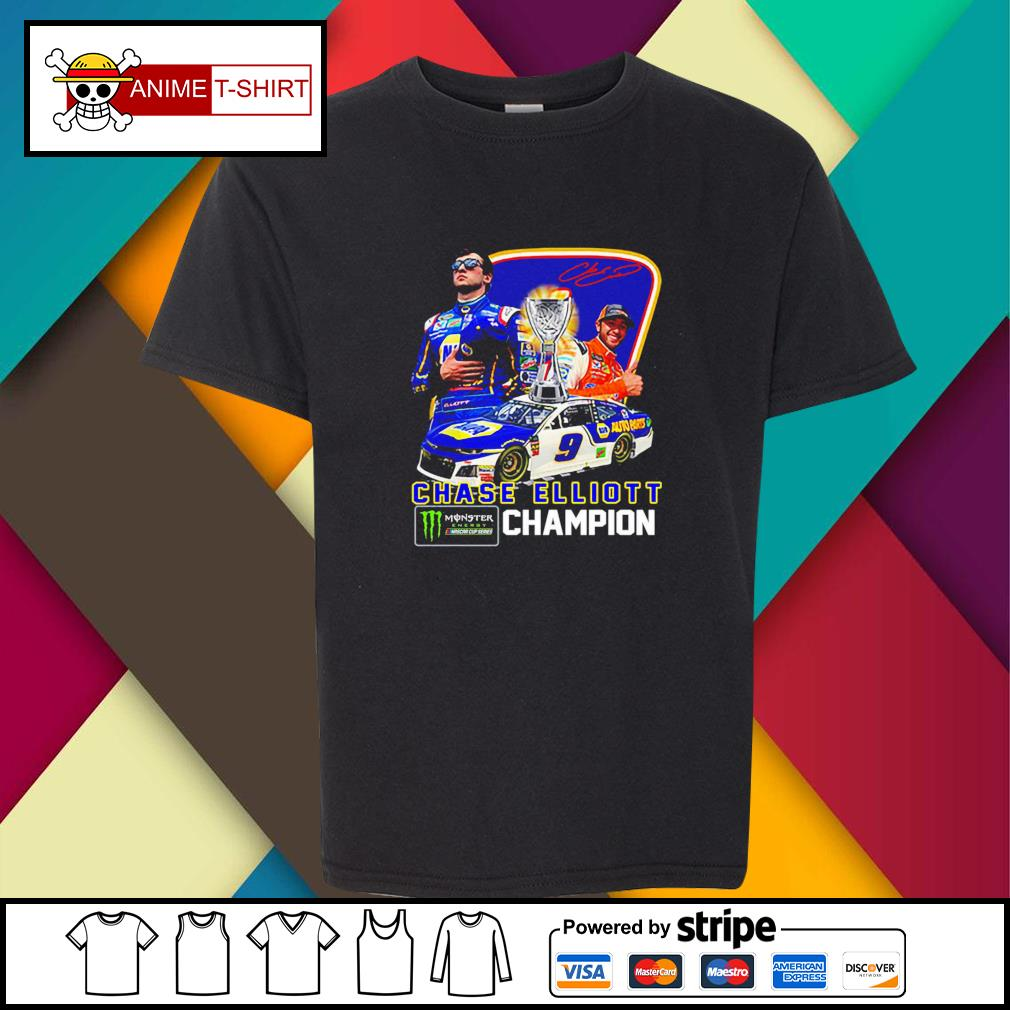 Chase Elliott championship victory signature youth-tee