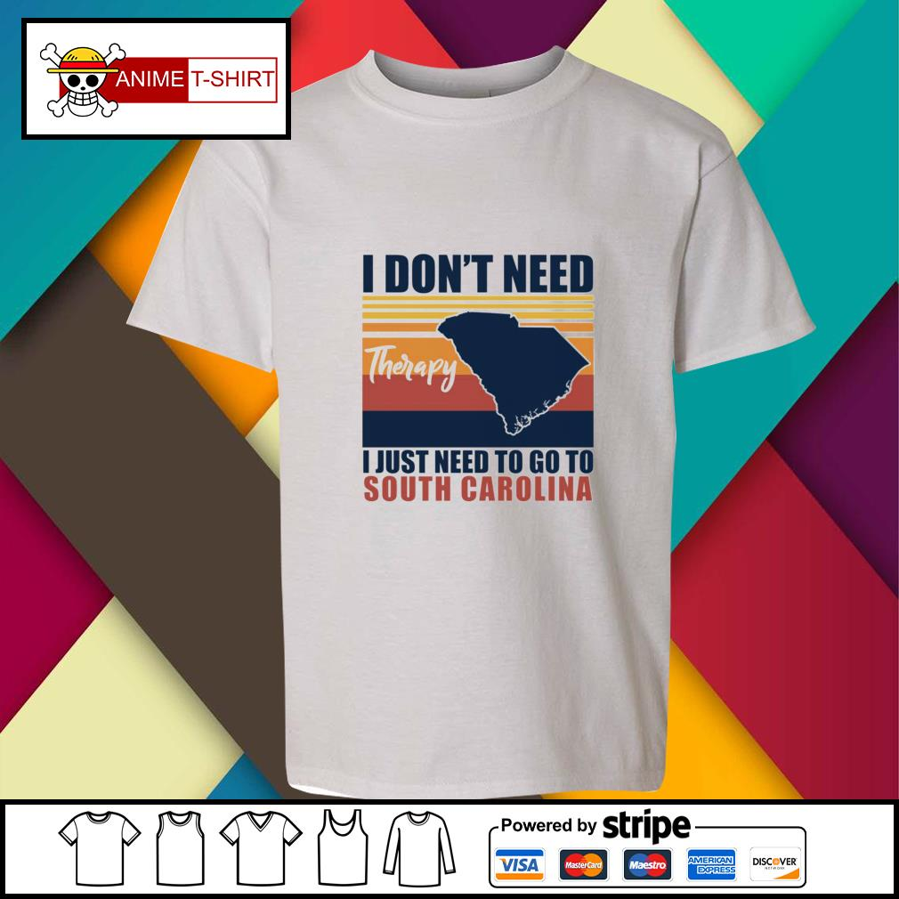 I don't need therapy I just need to go to south carolina vintage youth-tee