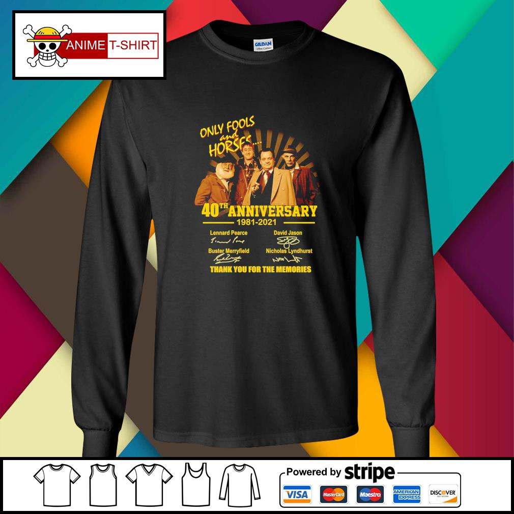Only Fools and Horses 40th anniversary 1981 2021 signatures longsleeve-tee