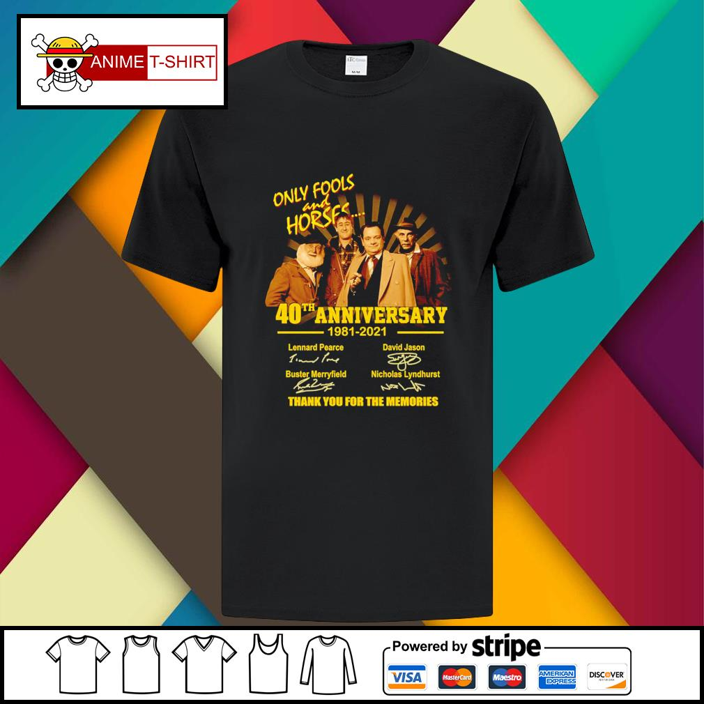 Only Fools and Horses 40th anniversary 1981 2021 signatures shirt