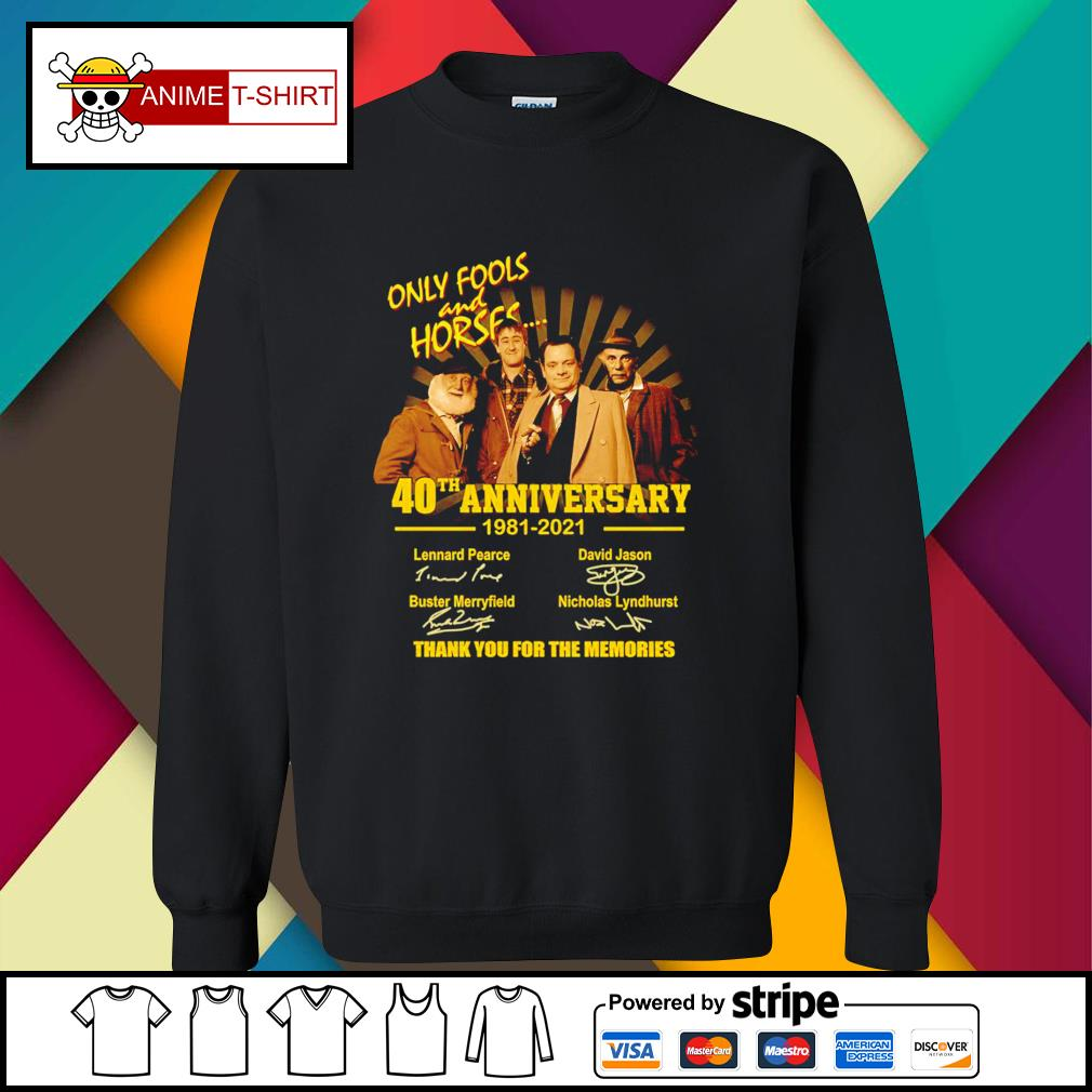 Only Fools and Horses 40th anniversary 1981 2021 signatures sweater