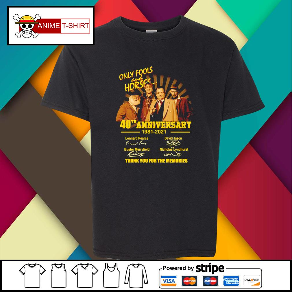 Only Fools and Horses 40th anniversary 1981 2021 signatures youth-tee