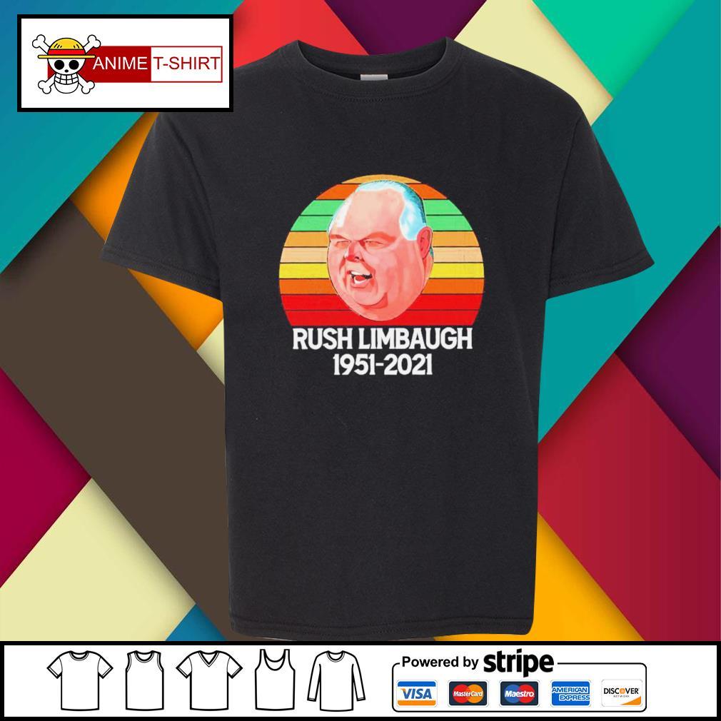 Rush Limbaugh 1951 2021 vintage youth-tee