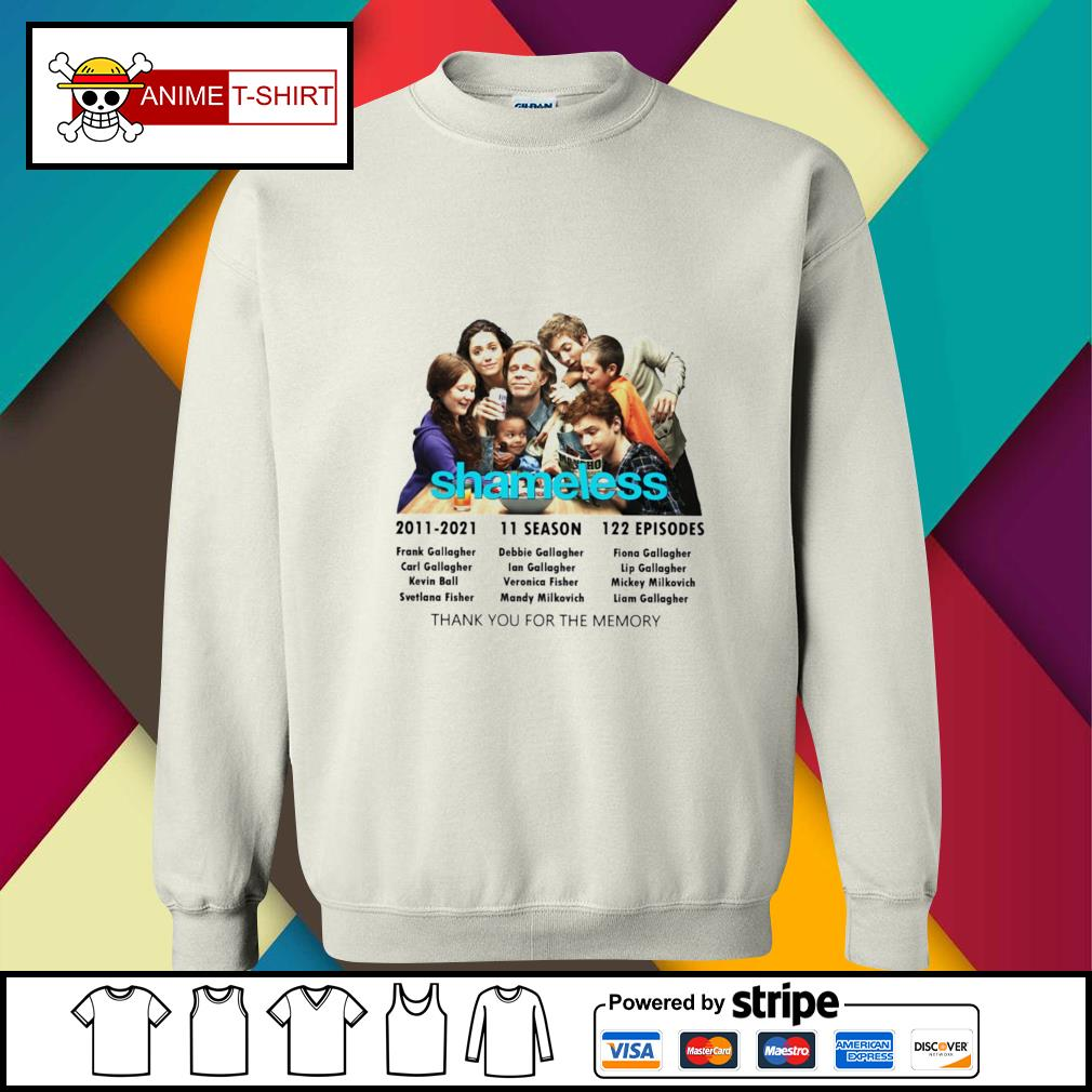 Shameless 2011 2021 11 season 122 episodes thank you for the memory sweater