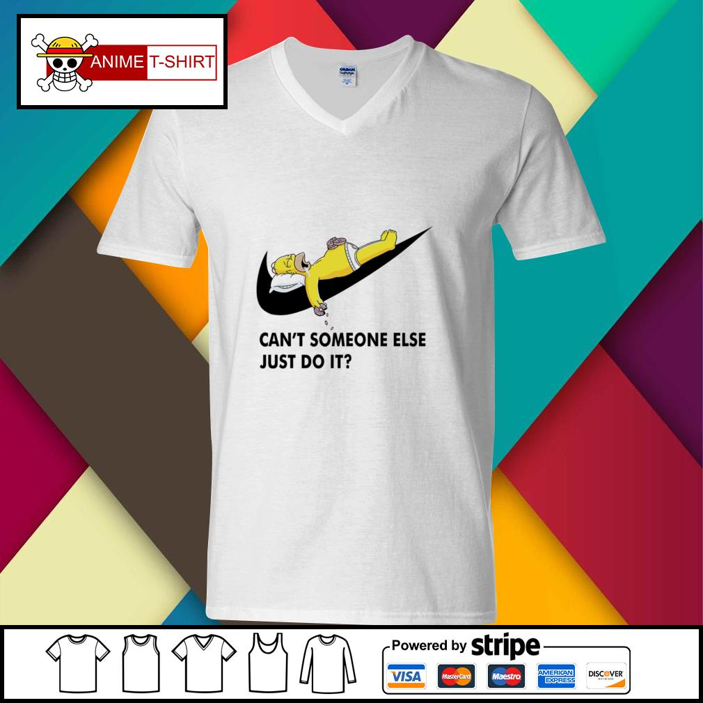 Simpson can't someone else just do it v-neck-t-shirt