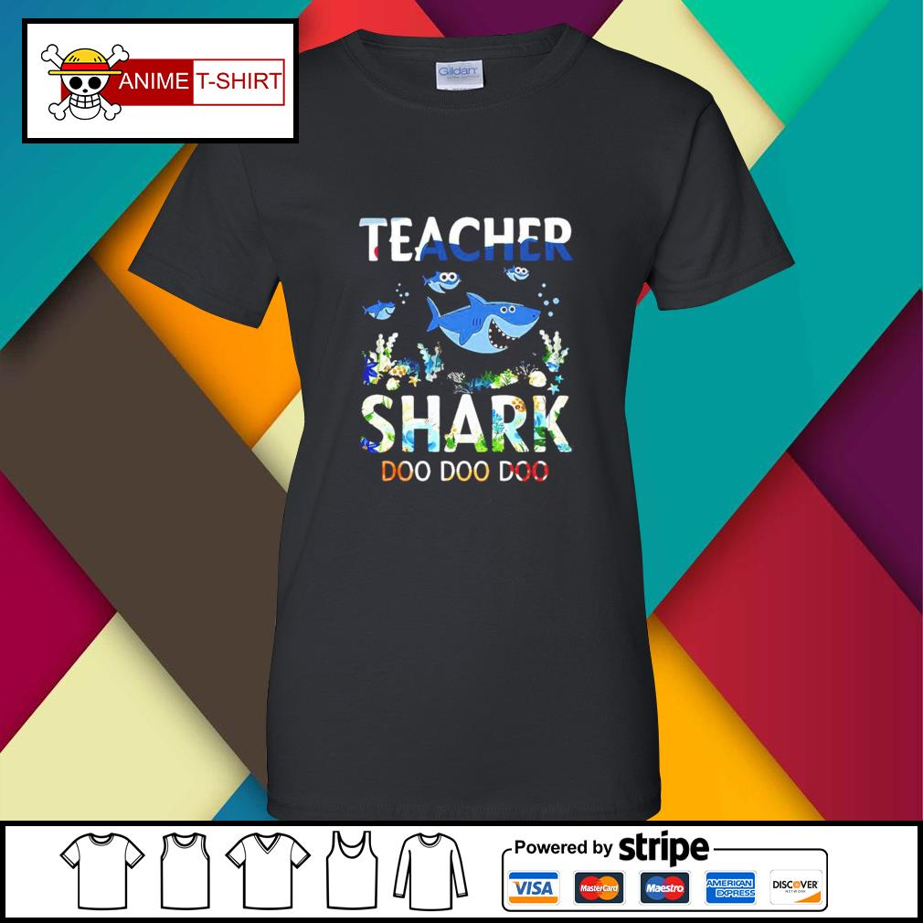 Teacher shark doo doo doo ladies-tee