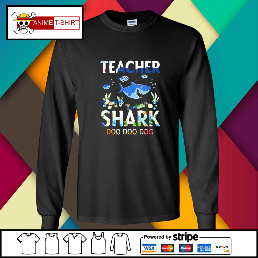 Teacher shark doo doo doo longsleeve-tee
