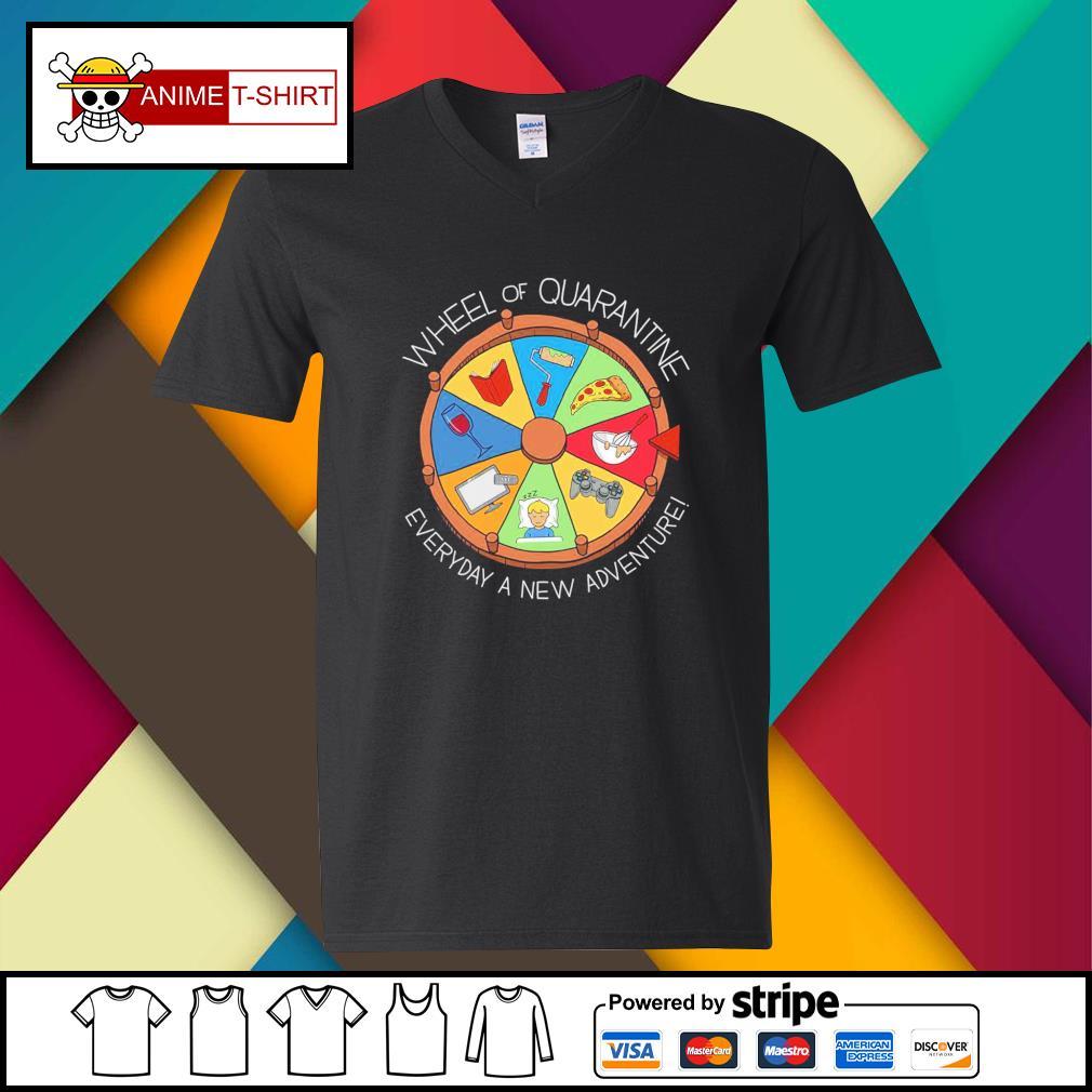Wheel of quarantine everyday a new adventure v-neck-t-shirt