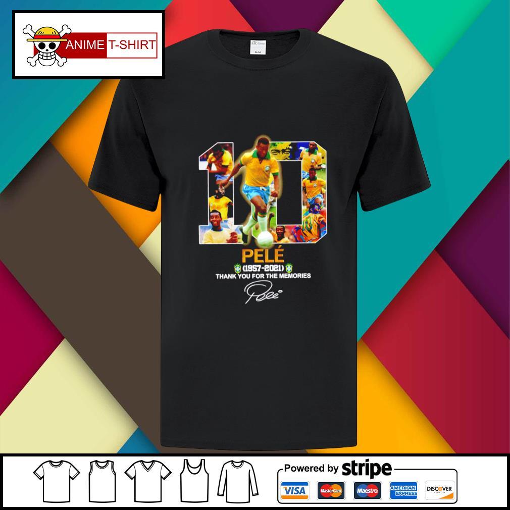 10 pele 1957 2021 thank you for the memories signature shirt