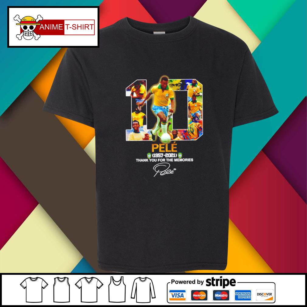 10 pele 1957 2021 thank you for the memories signature youth-tee