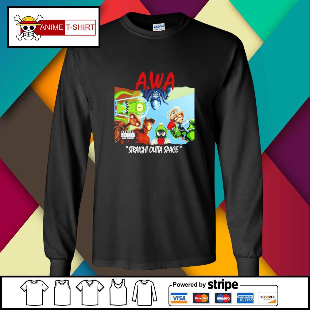 Awa straight outta space longsleeve-tee