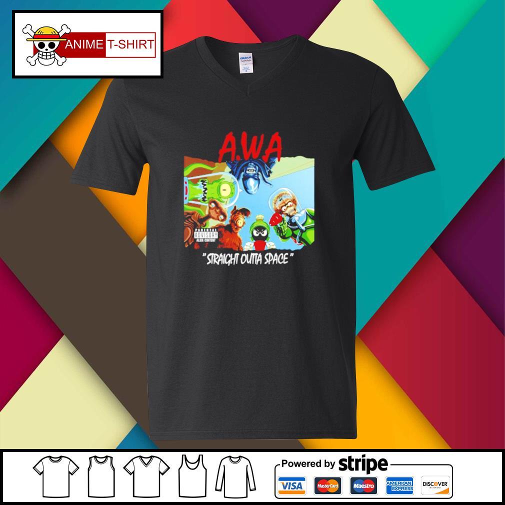 Awa straight outta space v-neck-t-shirt