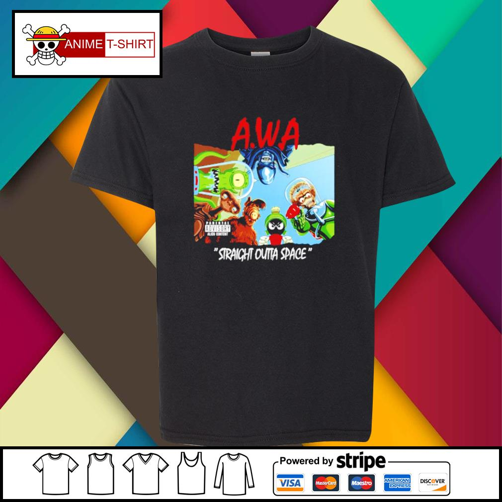 Awa straight outta space youth-tee