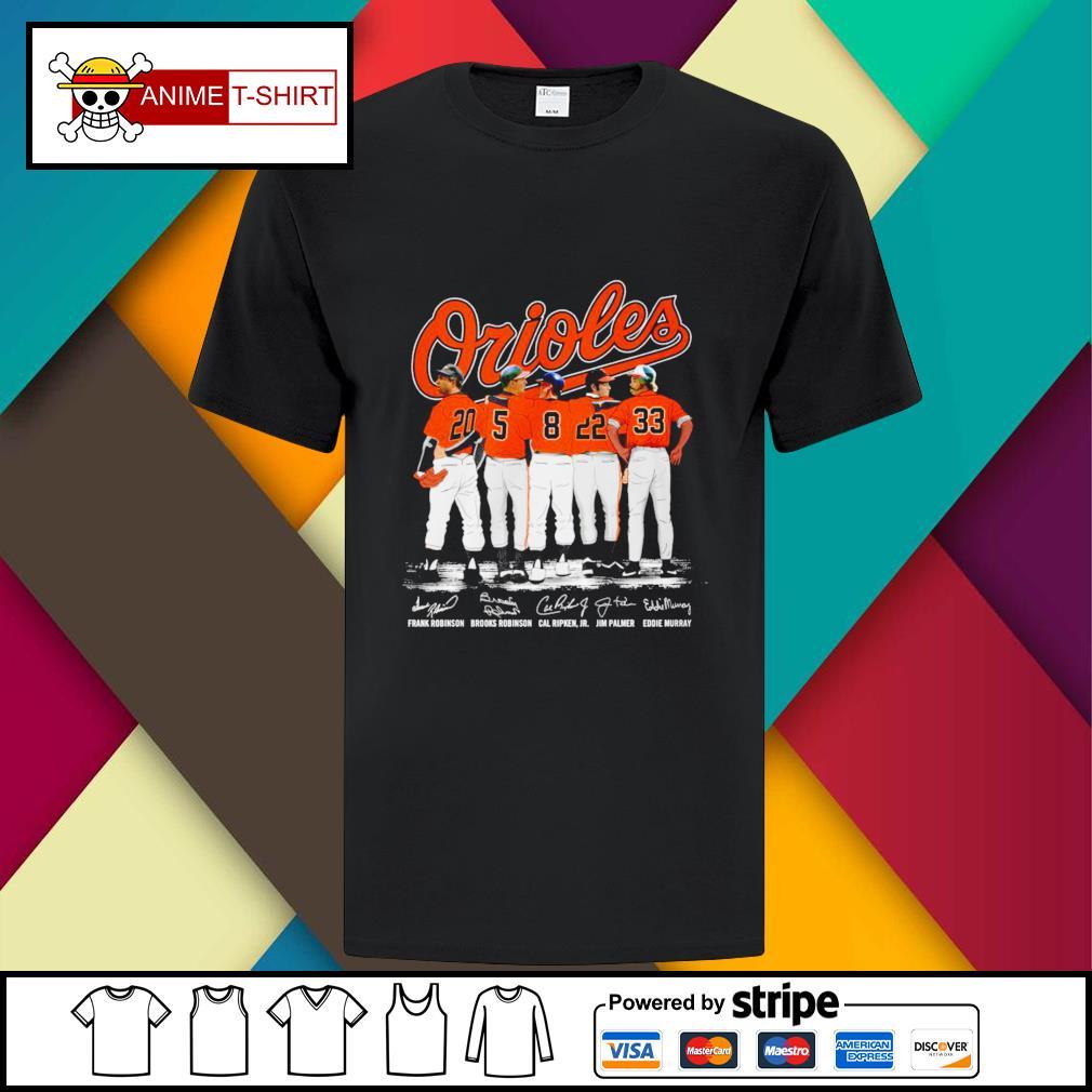 Baltimore Orioles Prank Robinson Brooks Robinson Cal Ripken Jim Palmer and Eddie Murray signature shirt