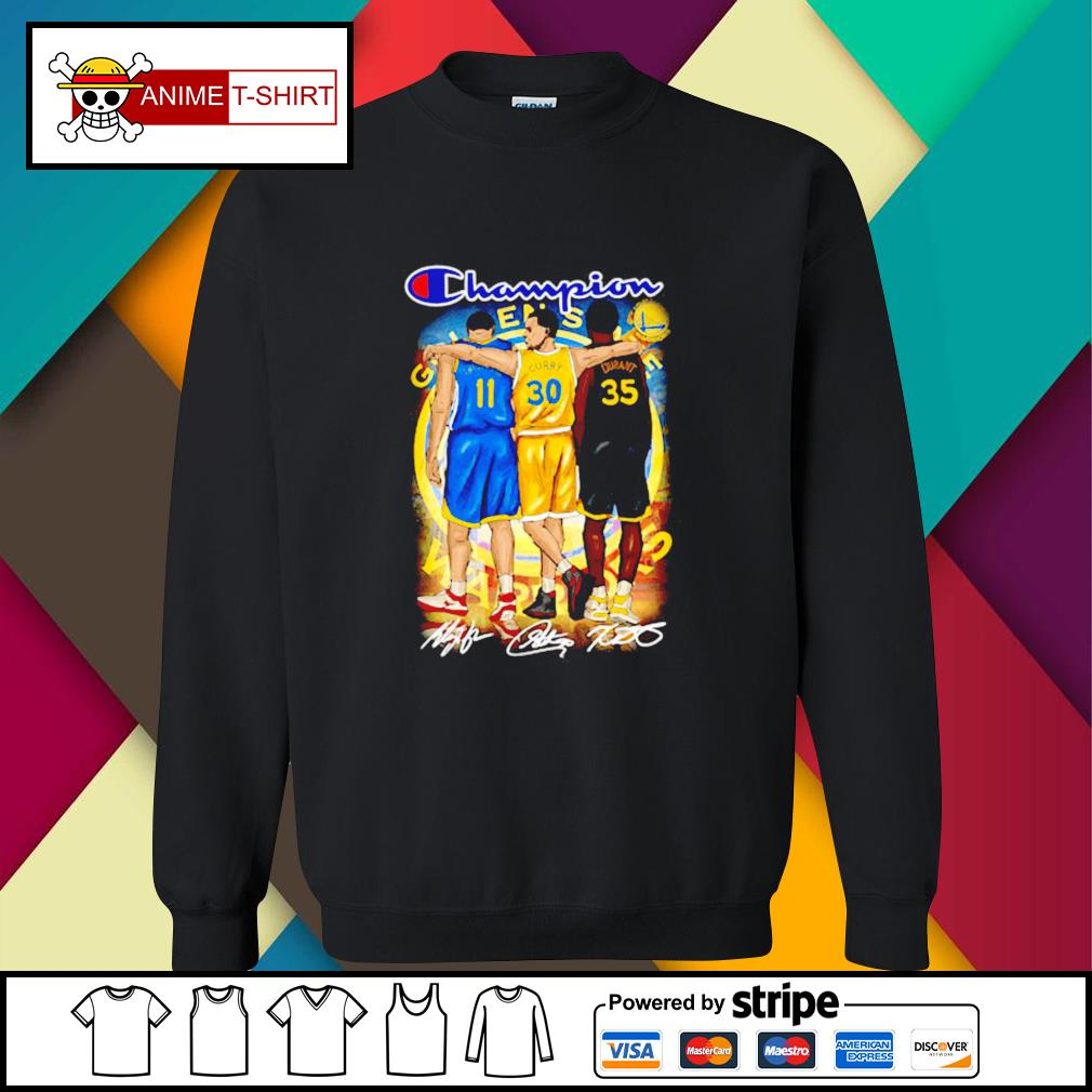 Champion Golden State Warriors Stephen Curry Klay Thompson and Kevin Durant signature sweater