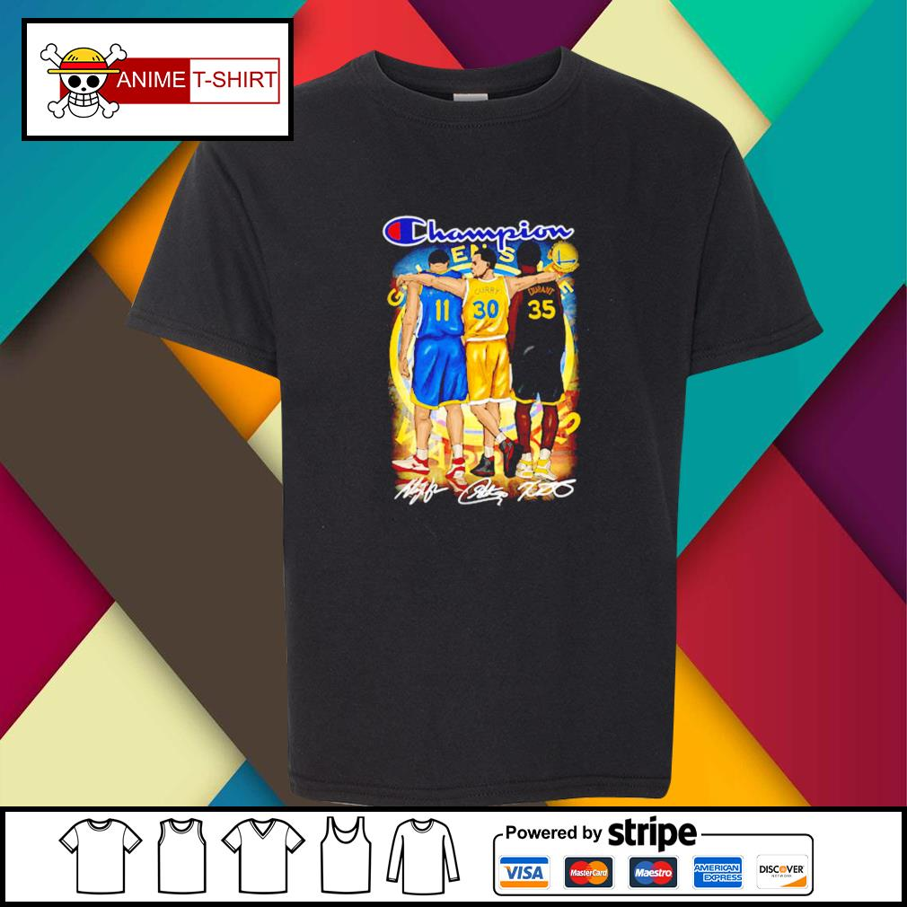 Champion Golden State Warriors Stephen Curry Klay Thompson and Kevin Durant signature youth-tee