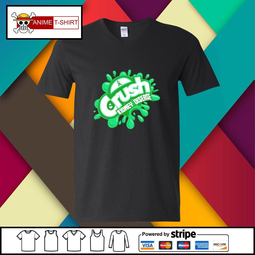 Crush kidney disease v-neck-t-shirt