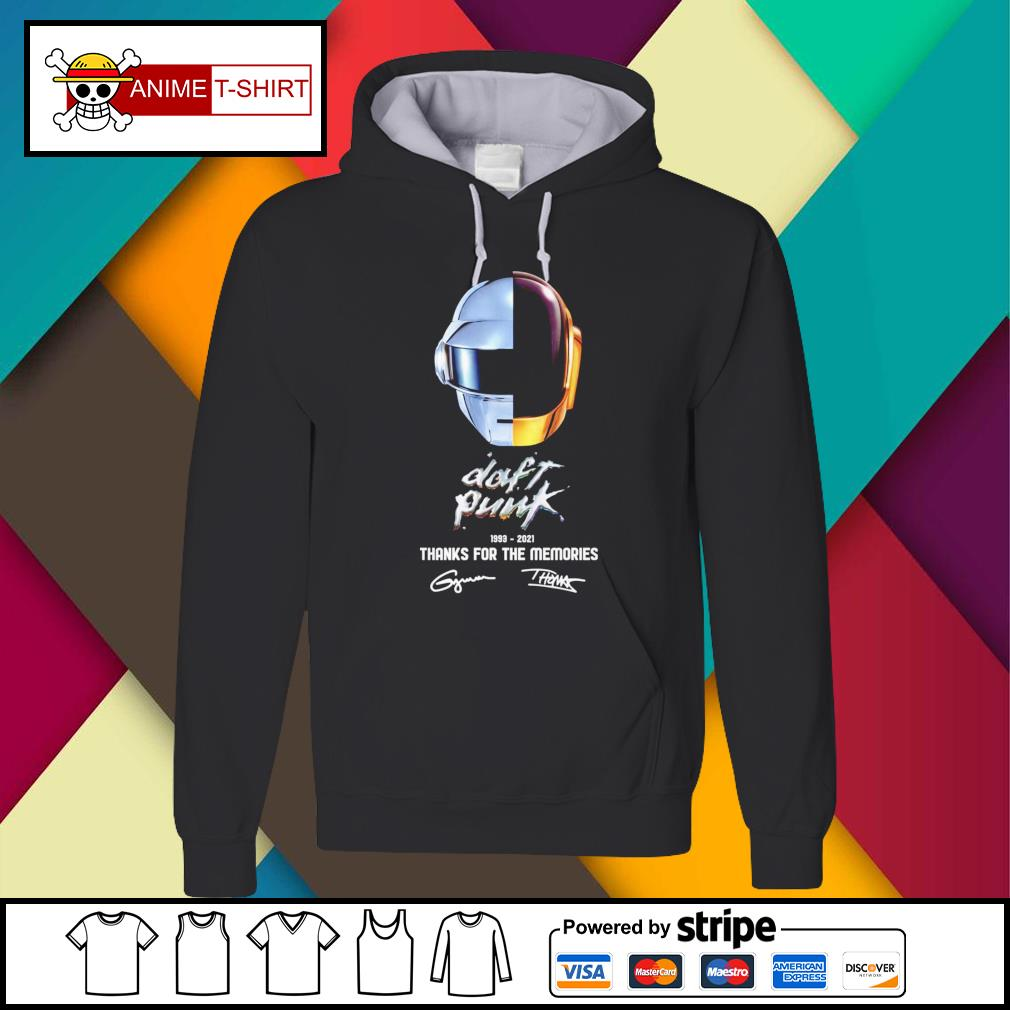 Daft Punk 1993 2021 thanks for the memories signature Hoodie