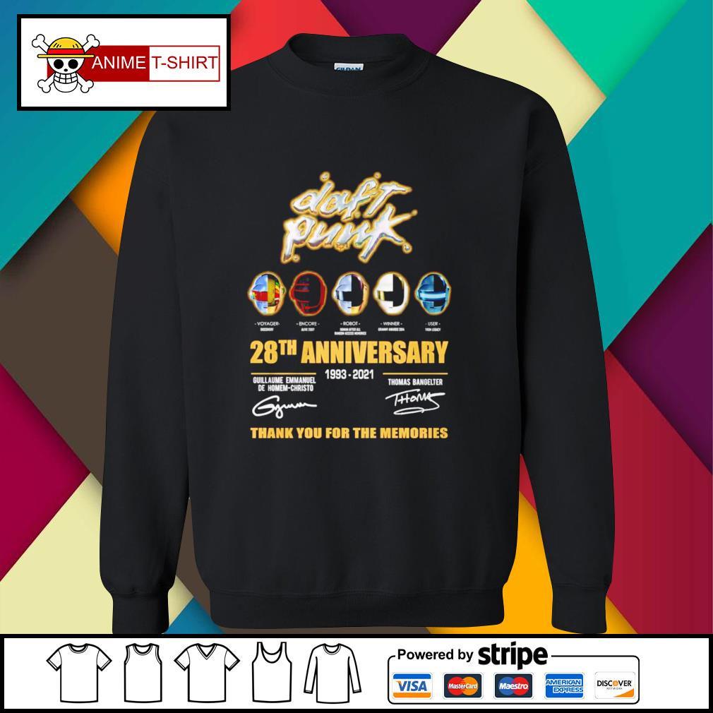 Daft Punk 28th anniversary 1993 2021 guillaume Emmanuel de homem christo Thomas Bangelter signature sweater