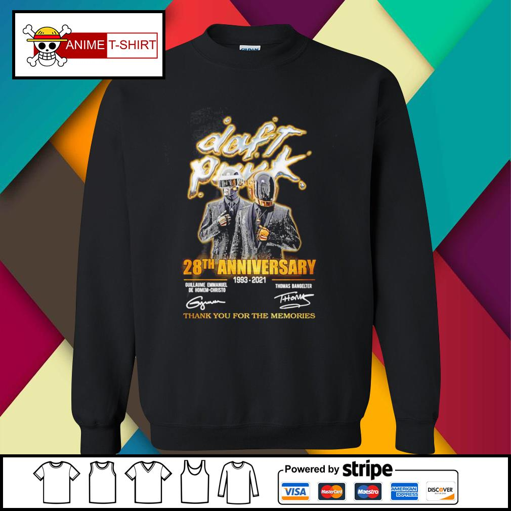 Daft Punk 28th anniversary 1993 2021 thank you for the memories signature sweater