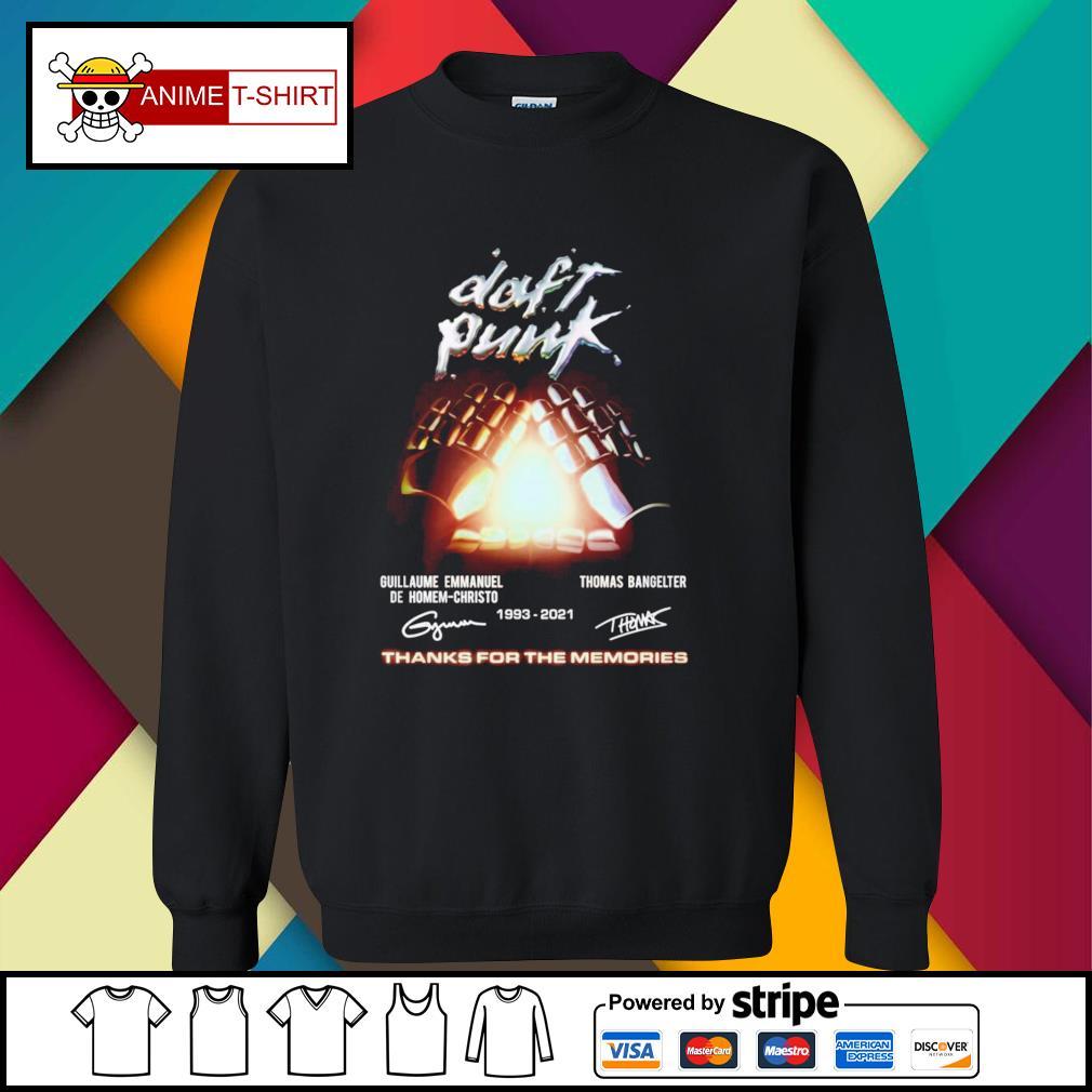 Daft Punk guillaume Emmanuel de homem christo 1993 2021 Thomas Bangelter signature sweater