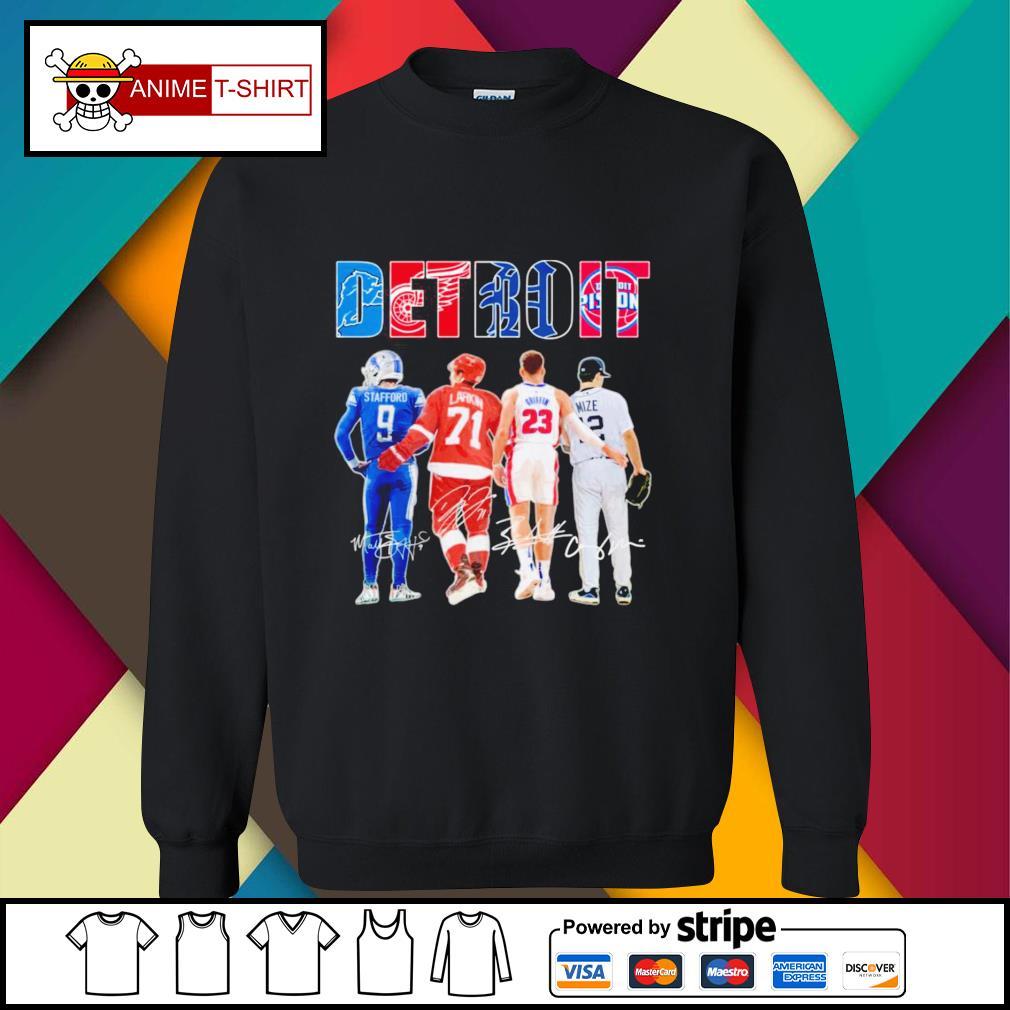 Detroit Stafford Larkin Griffin Mize signature sweater