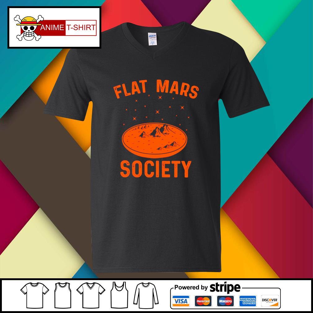 Flat Mars Society v-neck-t-shirt
