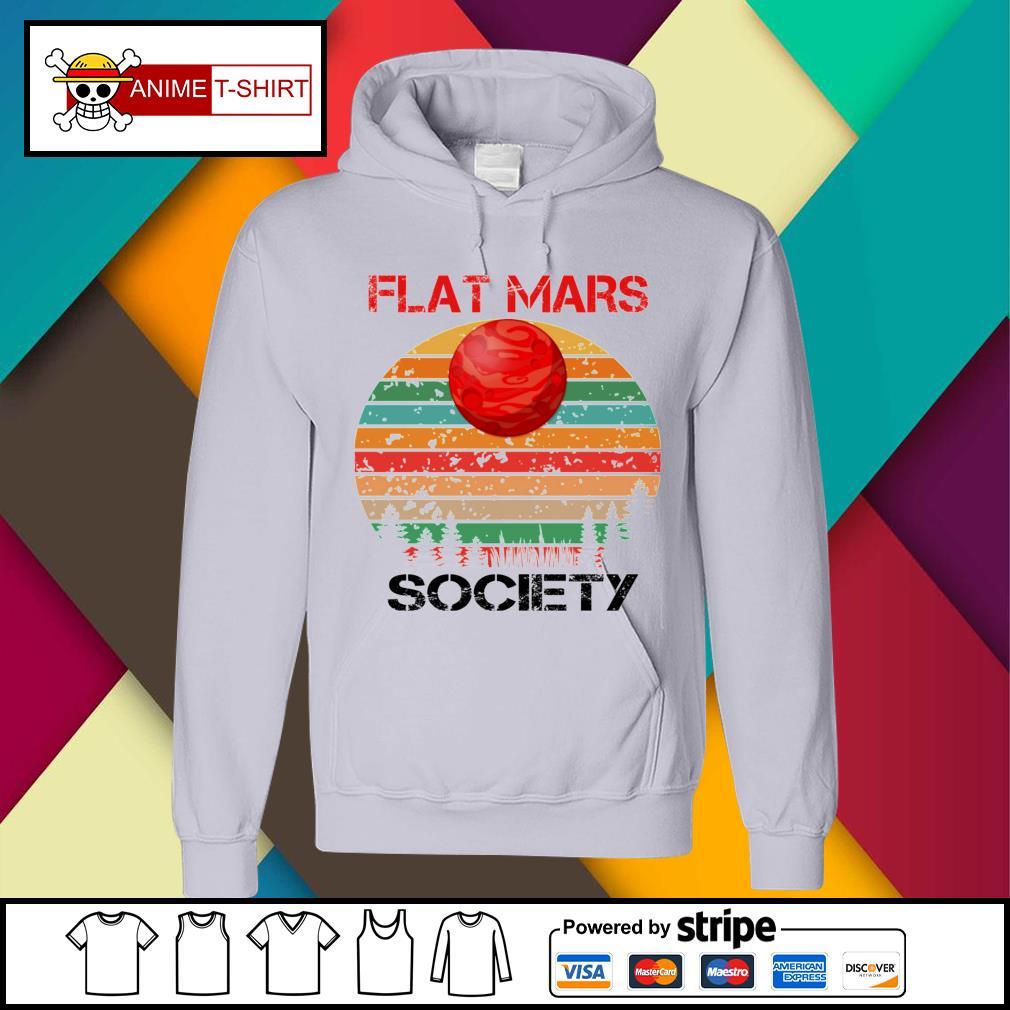 Flat mars society vintage hoodie