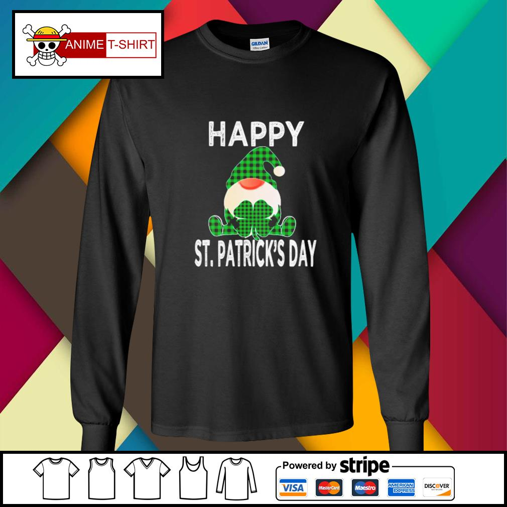Gnomes Happy St. Patrick's Day longsleeve-tee