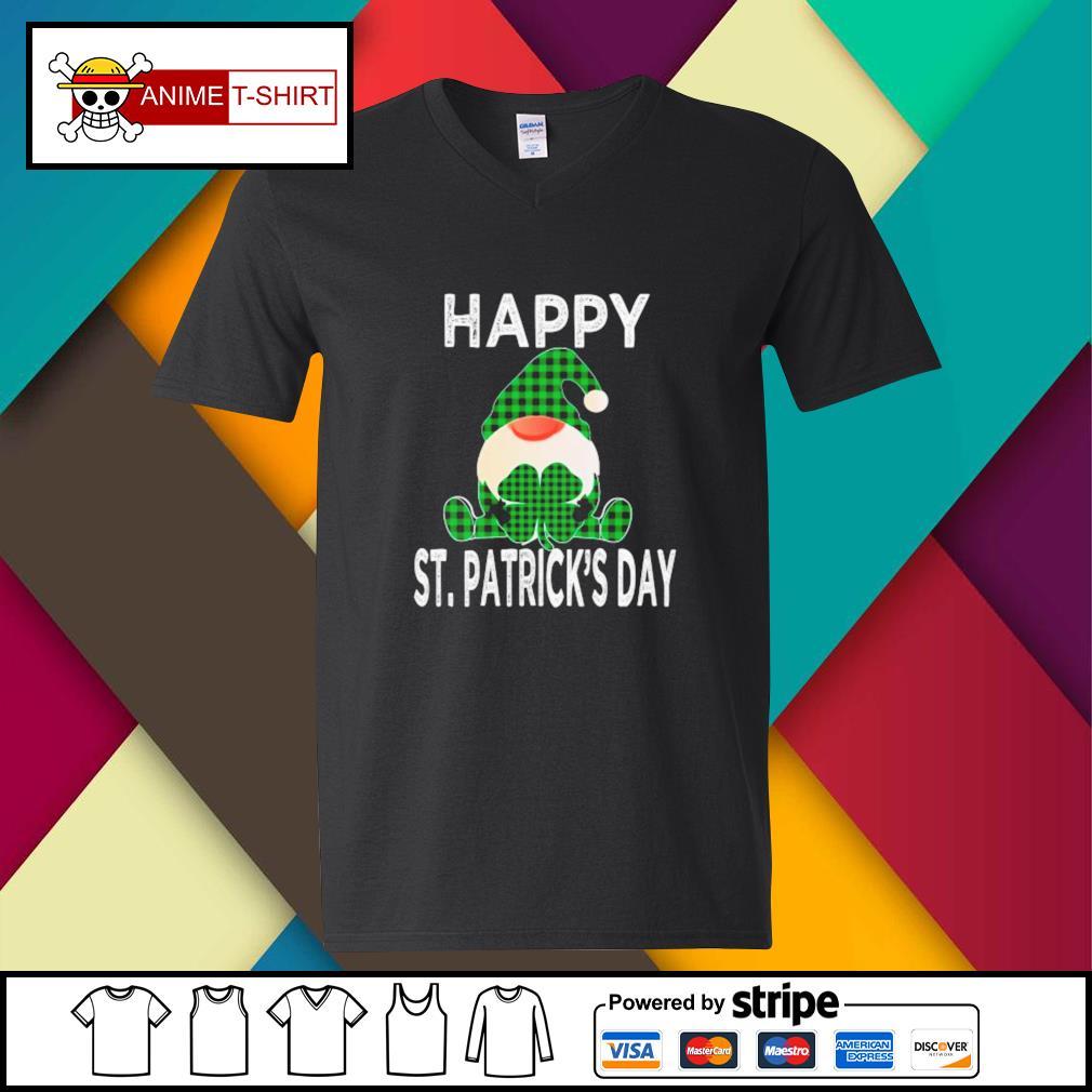 Gnomes Happy St. Patrick's Day v-neck-t-shirt