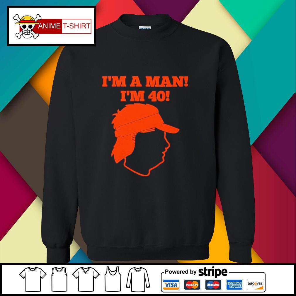 I'm a man I'm 40 sweater