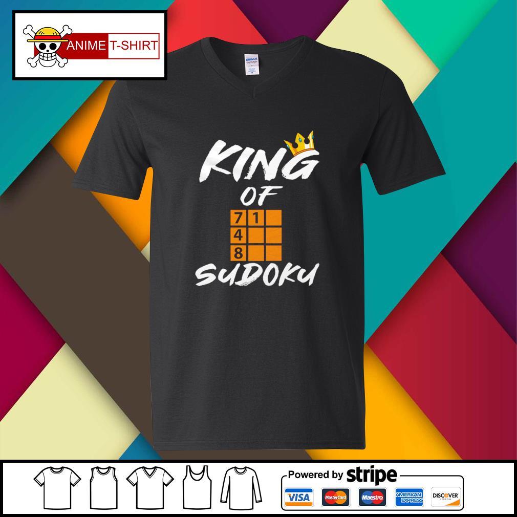 King of sudoku v-neck-t-shirt