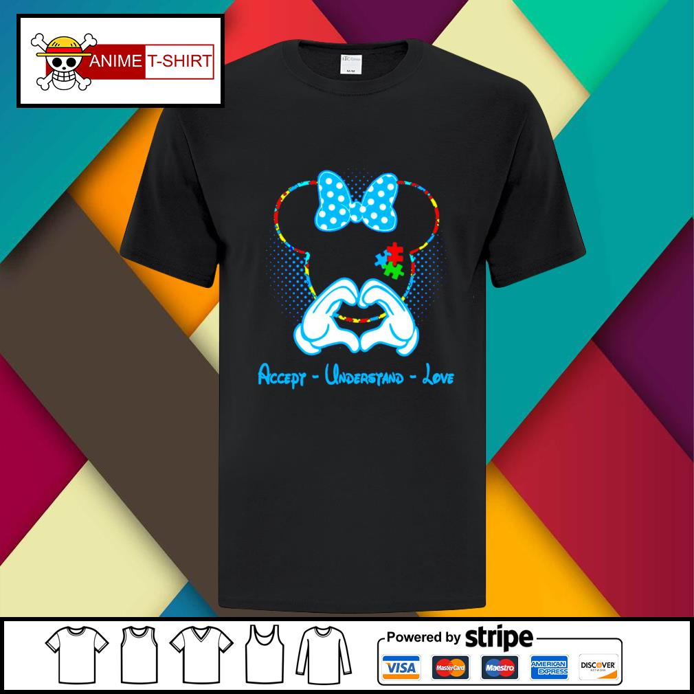 Mickey mouse accept understand love shirt