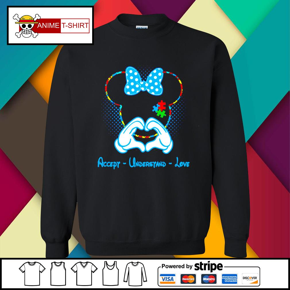 Mickey mouse accept understand love sweater