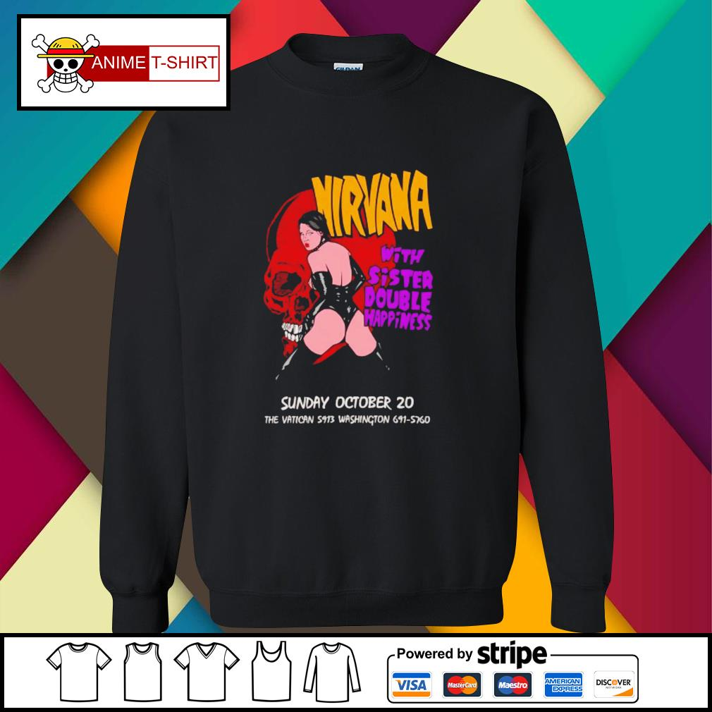 Nirvana with sister double happiness sunday october 20 sweater