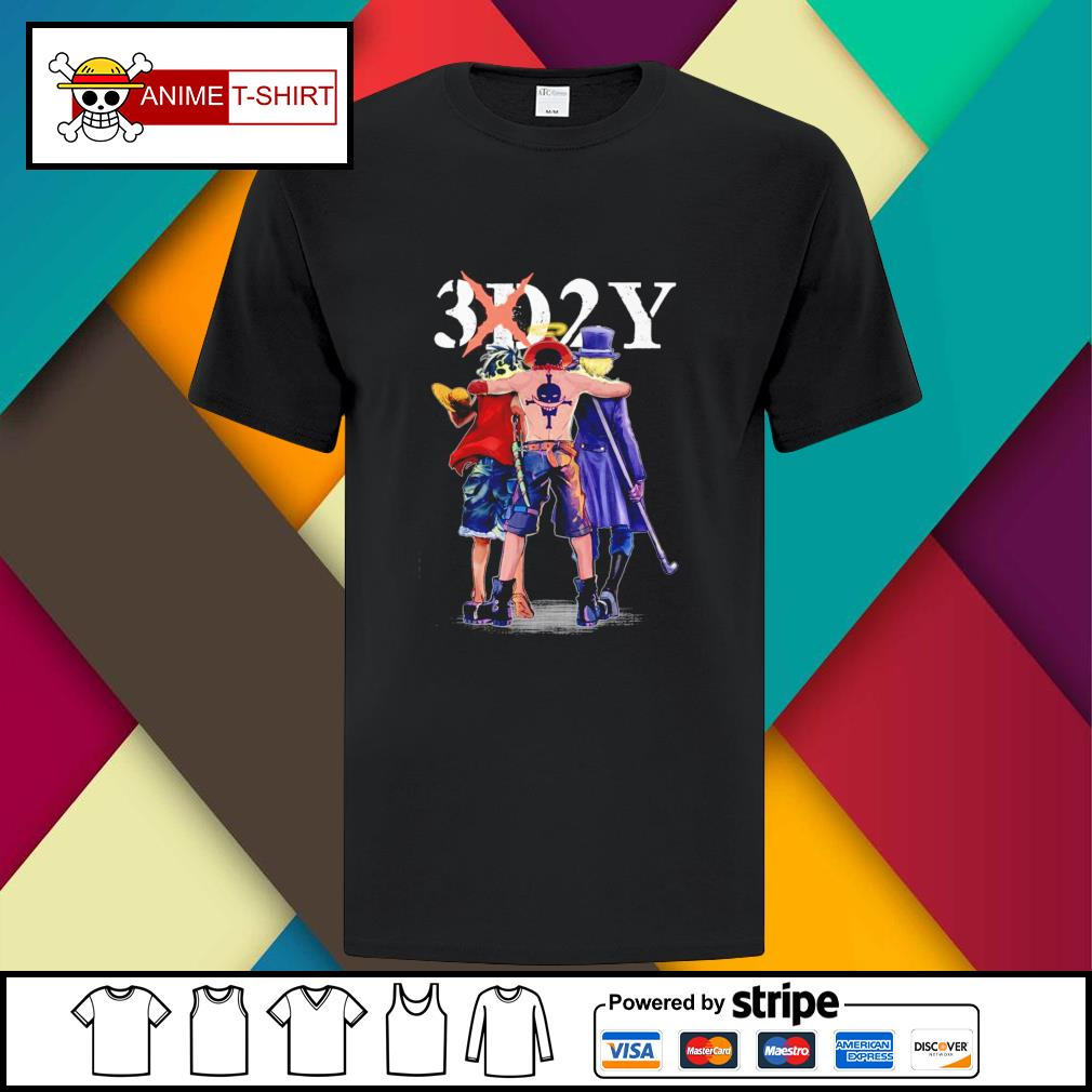 One Piece 3d2y Luffy Ace and Sabo shirt