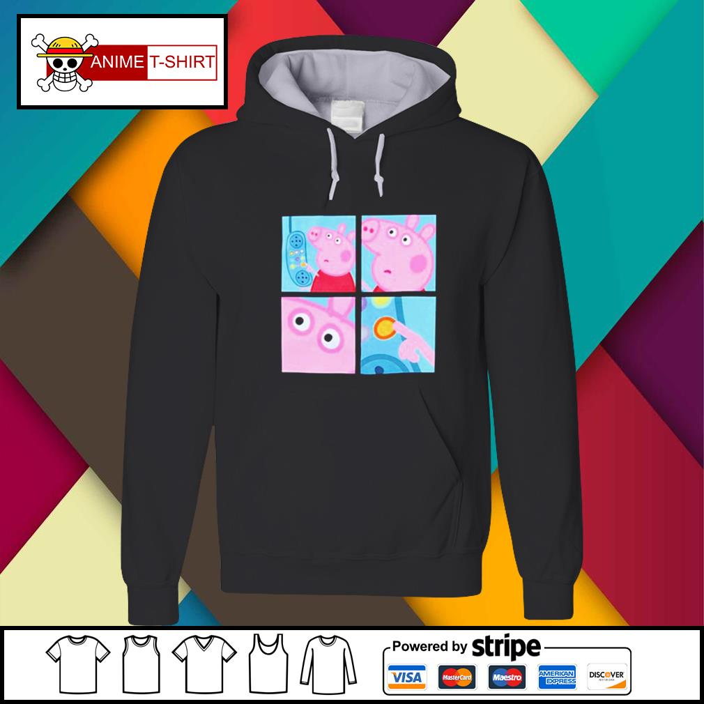 Peppa Pig hanging up phone meme Hoodie