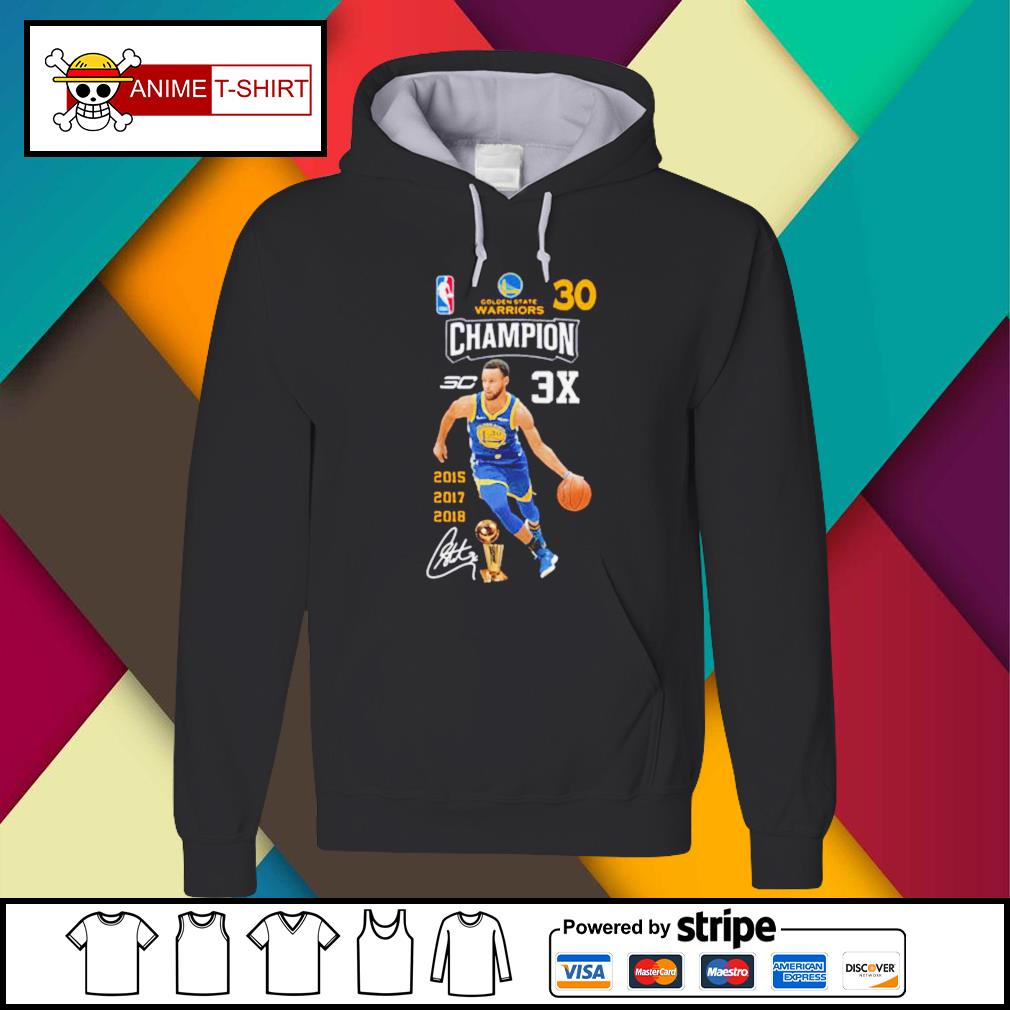 Stephen Curry NBA Golden State Warriors 30 Champion signature Hoodie