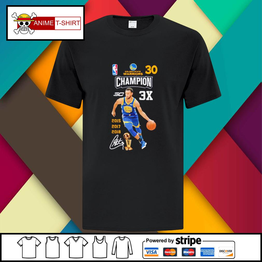 Stephen Curry NBA Golden State Warriors 30 Champion signature shirt