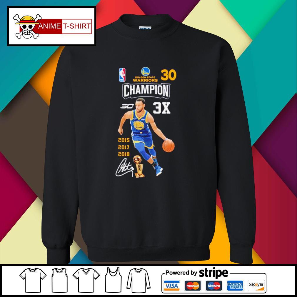 Stephen Curry NBA Golden State Warriors 30 Champion signature sweater