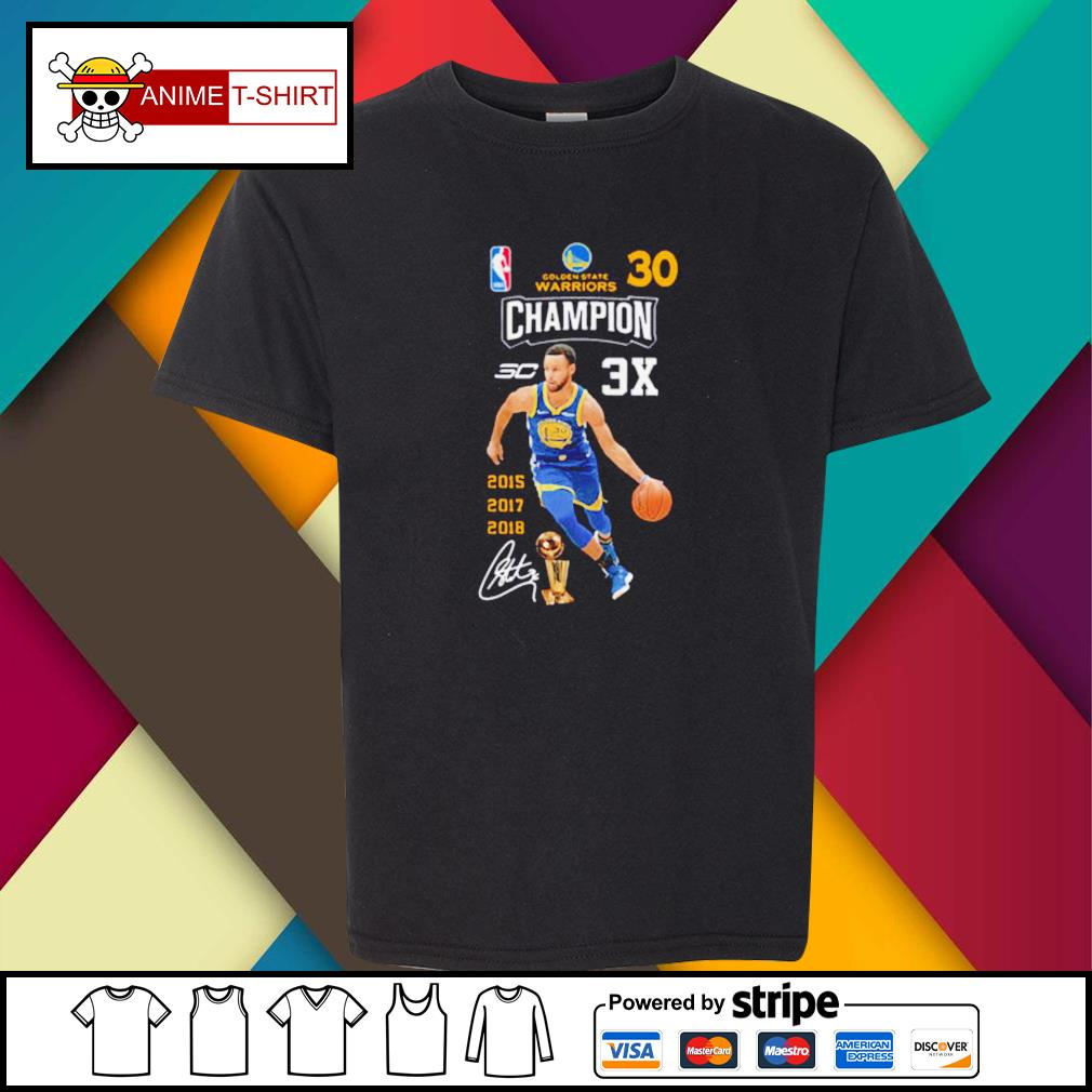 Stephen Curry NBA Golden State Warriors 30 Champion signature youth-tee