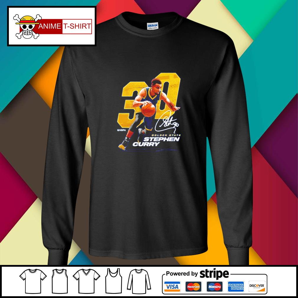 Stephen Curry Nbpa 30 golden state Stephen curry signature longsleeve-tee