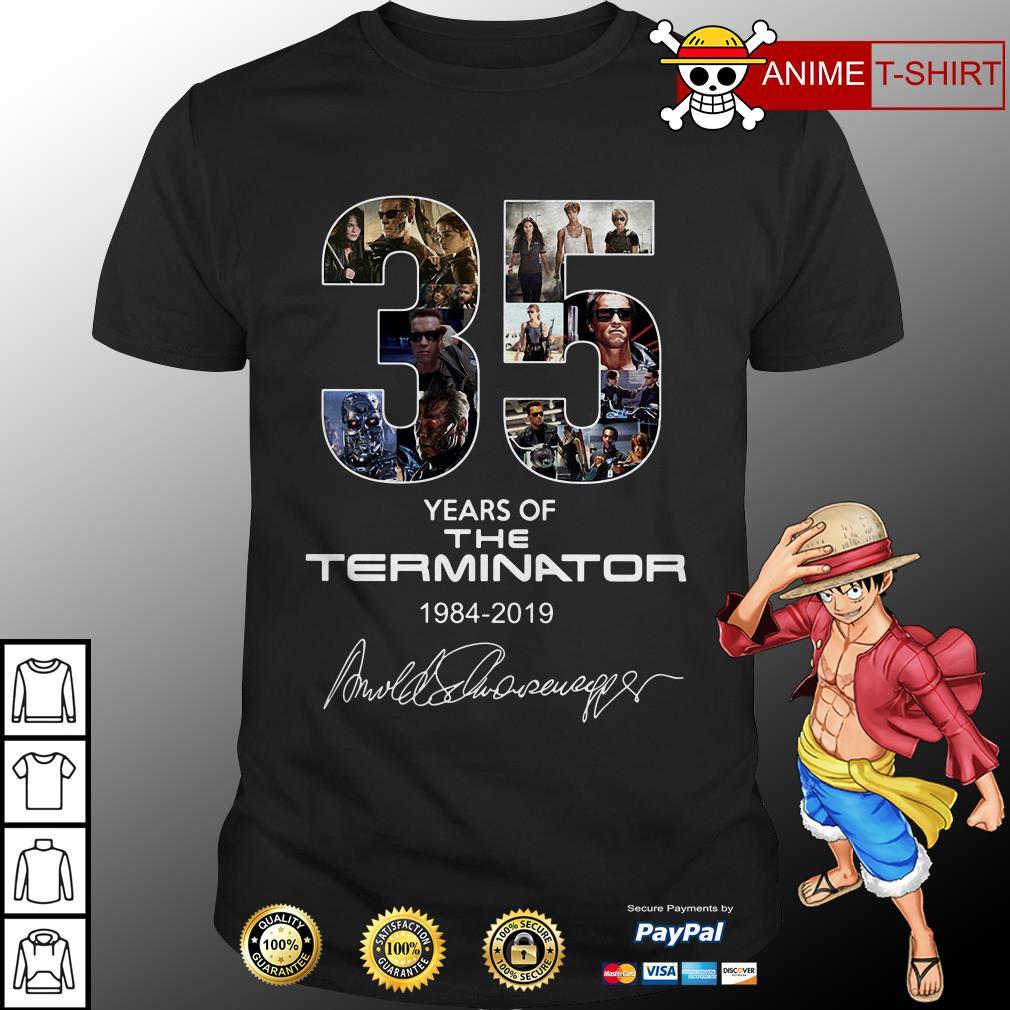 35 Years Of The Terminator 1984 2019 Signature Shirt