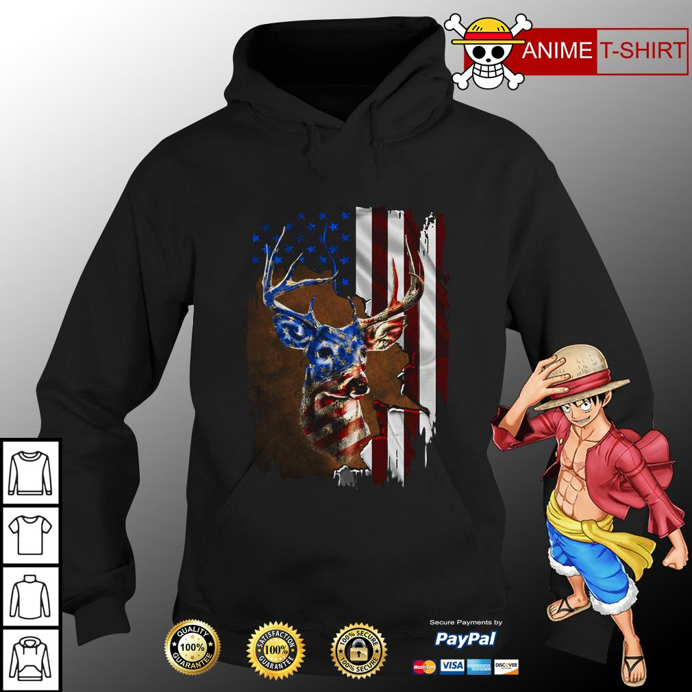 4th July Independence Day deer hoodie