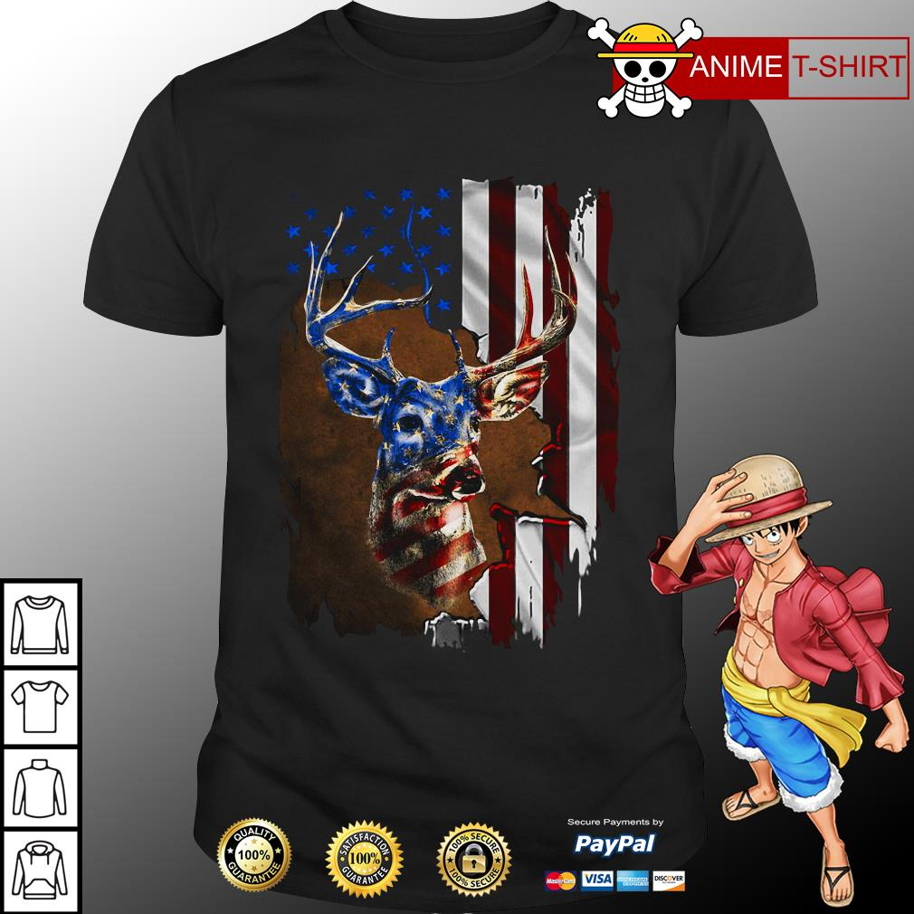 4th July Independence Day deer shirt