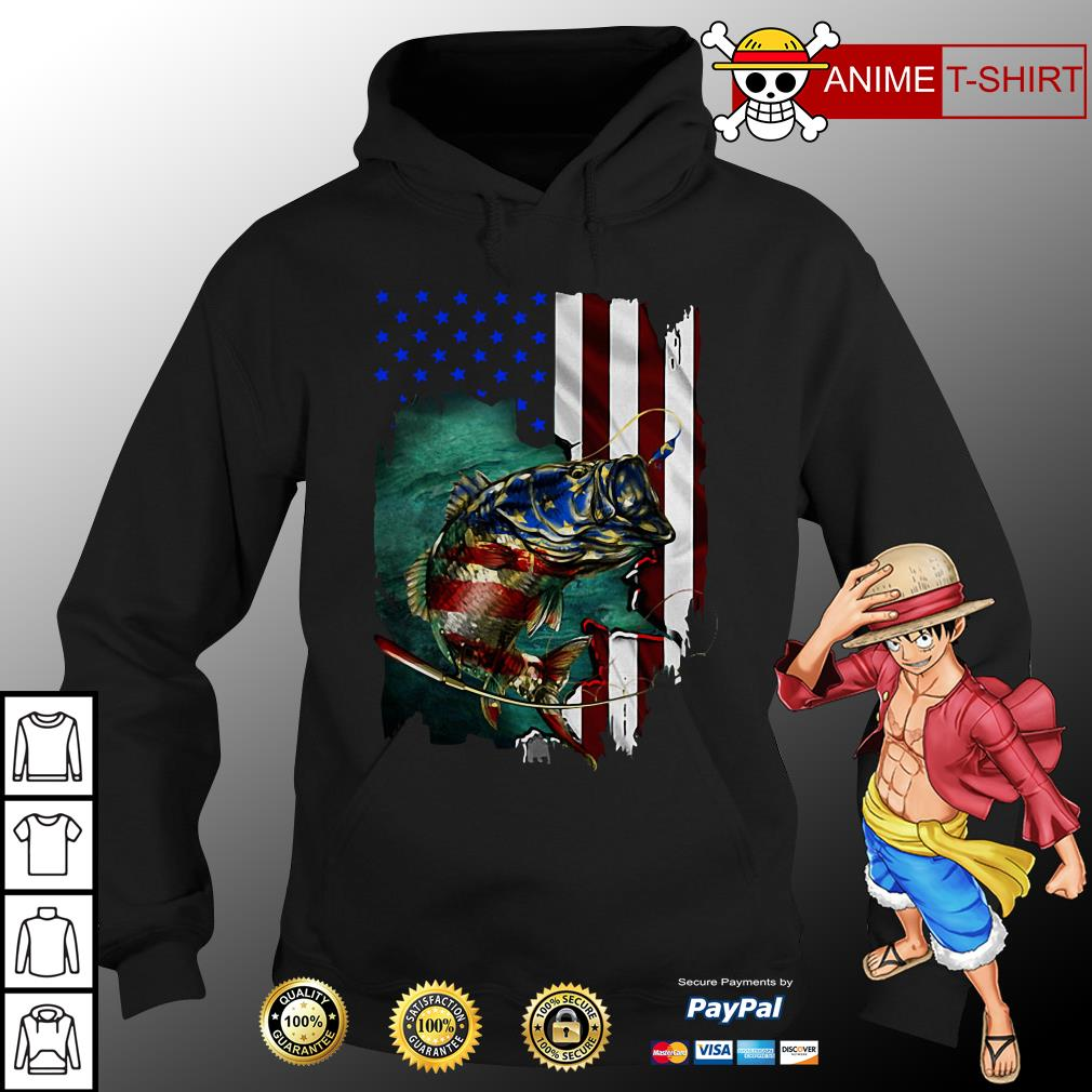 4th July Independence Day fishing hoodie